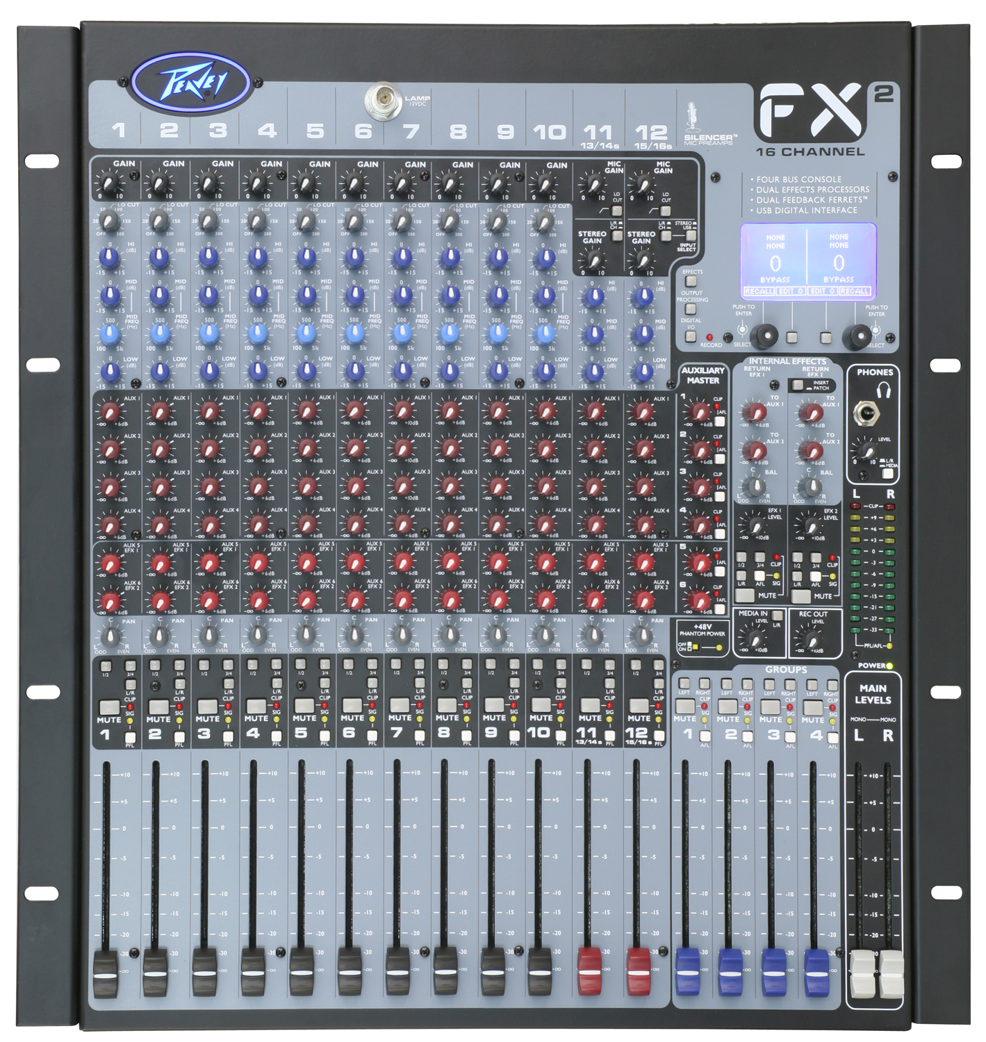 Fx2 16 Audio Mixers Projects Circuits 7 Mixer Straight On