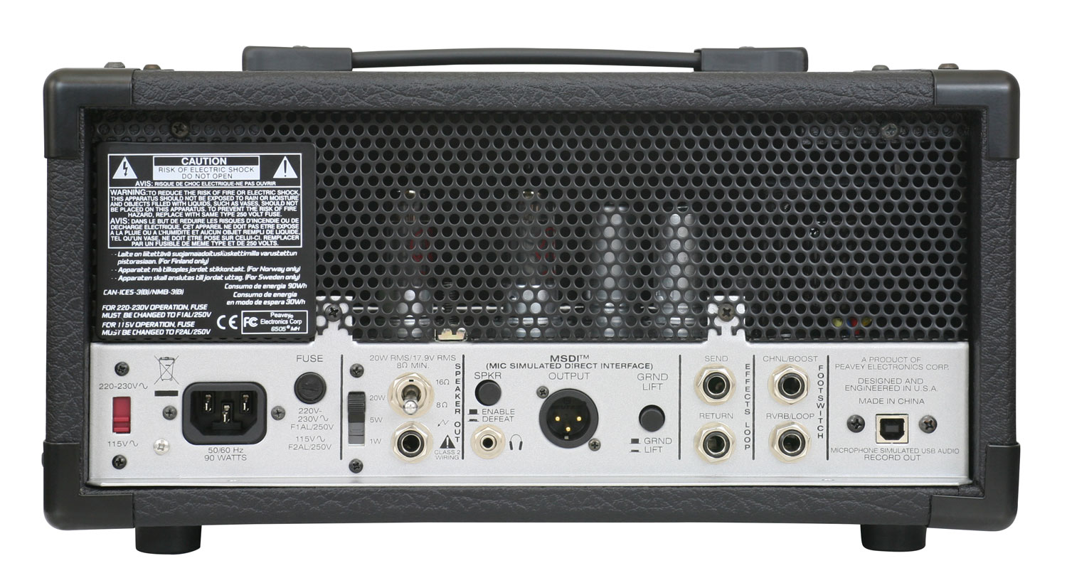 6505 Mh Mini Head Apmilifier Guitar Bass Amplifier Circuit And Explanation Front Back