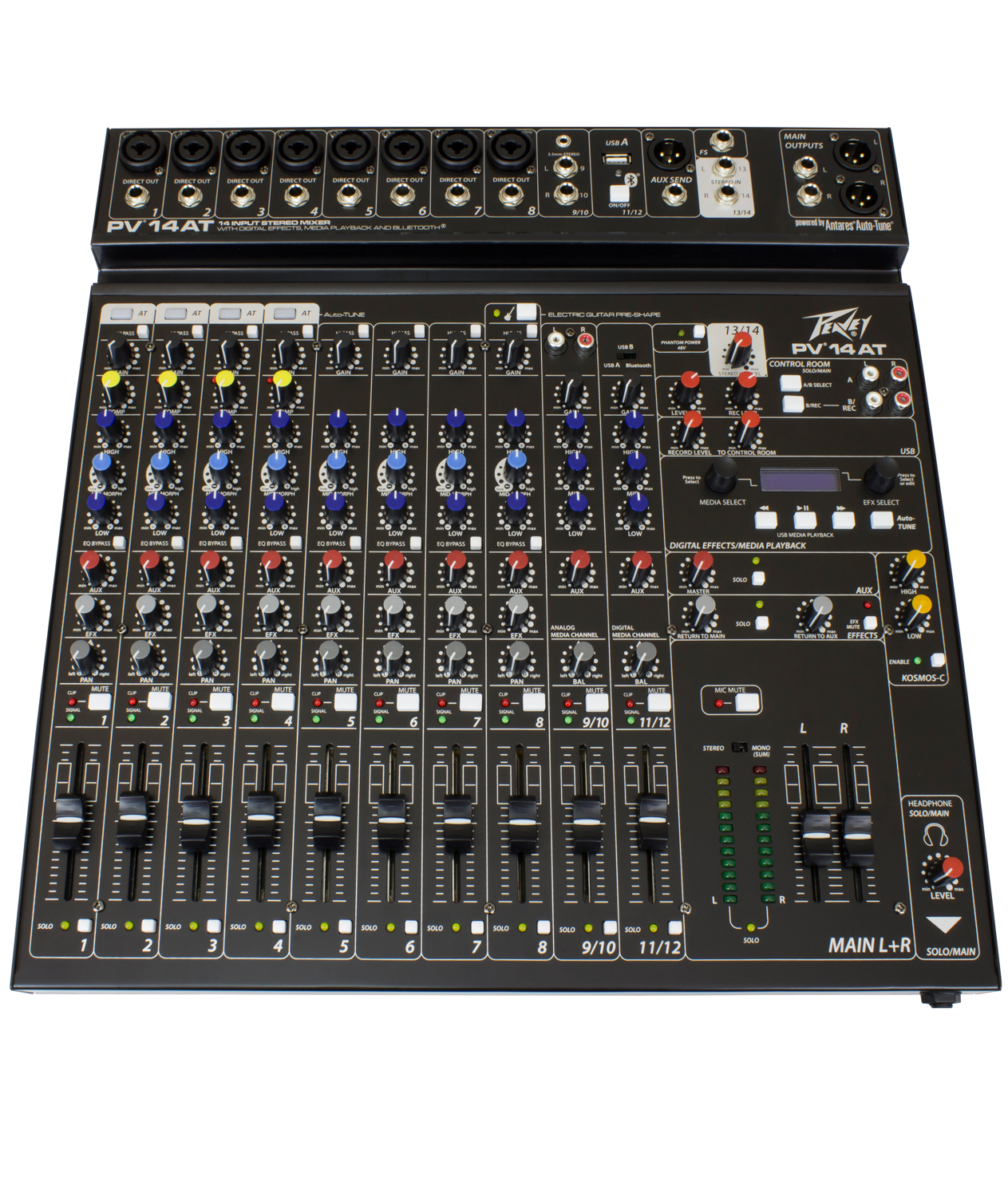 PV 14 AT 14 Channel Compact Mixer with Bluetooth and Antares® Auto-Tune