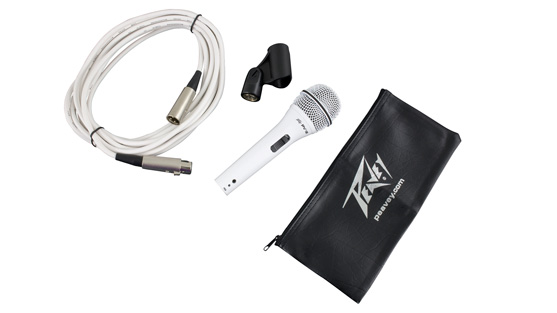 PV®i 2 XLR White  Cardioid Unidirectional Dynamic Vocal Microphone with XLR Cable