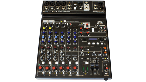 PV 10 AT 10 Channel Compact Mixer with Bluetooth and Antares® Auto-Tune